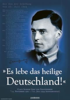 JF-Plakat zum 75. Jahrestag des Attentats auf Hitler