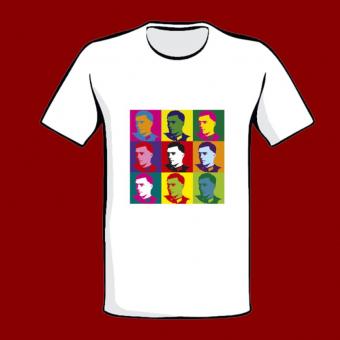 T- Shirt Stauffenberg Konterfei - Popart