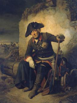 Friedrich II. nach der Schlacht von Kolin (Kunstdruck)