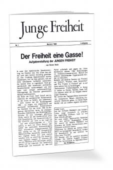 Der Freiheit eine Gasse! - Reprint der Erstausgabe der Jungen Freiheit