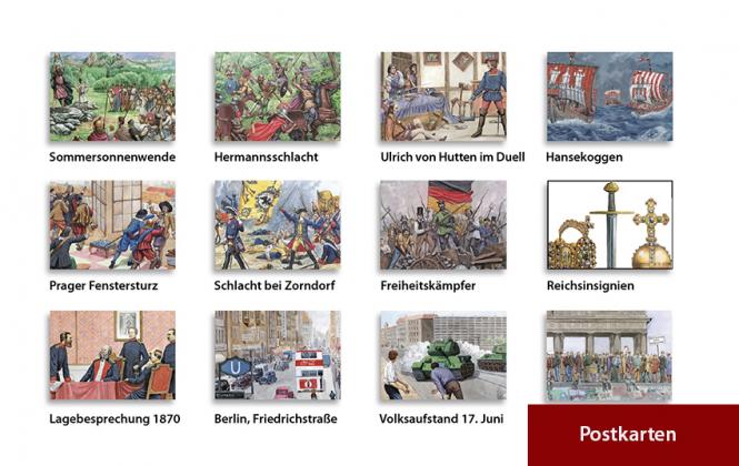 JF-Postkarten-Set Deutsche Geschichte (12 Motive)
