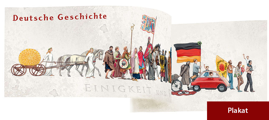JF-Buchdienst | JF-Plakat Zug Deutsche Geschichte (29,7 x ...